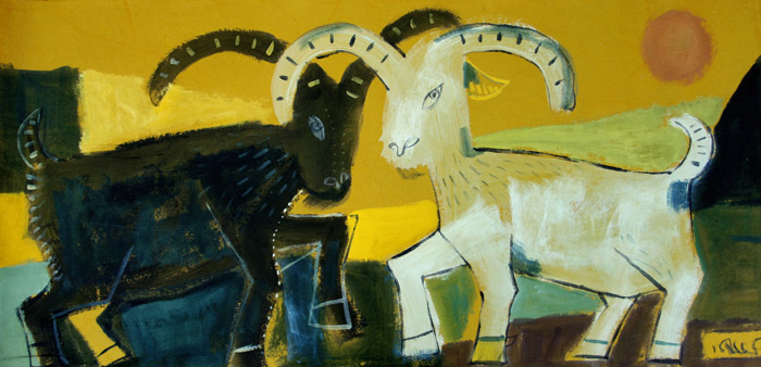 black-goat-and-white-goat-120-60cm-2011
